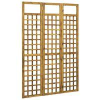 vidaXL 3-paneles tömör akácfa szobaelválasztó/paraván 120 x 170 cm
