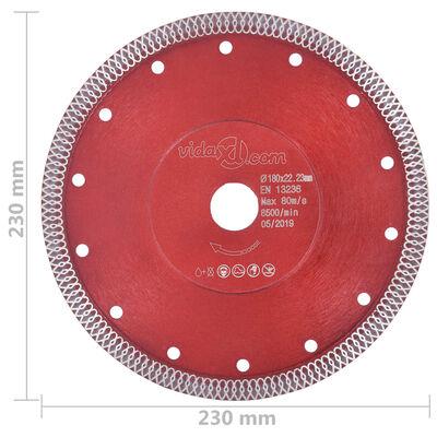 vidaXL gyémánt vágókorong furatos acéllal 230 mm