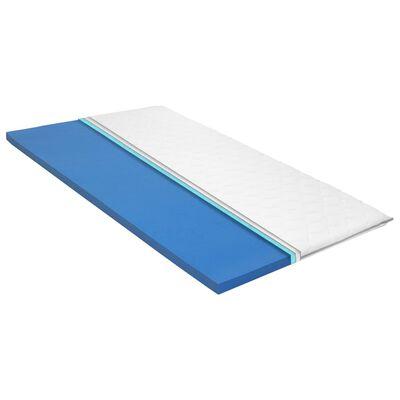 vidaXL viszkoelasztikus memóriahabos matractakaró 80 x 200 x 6 cm