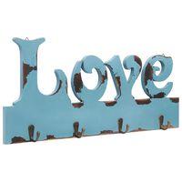 """vidaXL """"LOVE"""" feliratú fali fogas 50 x 23 cm"""
