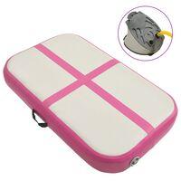 vidaXL rózsaszínű PVC felfújható tornamatrac pumpával 60 x 100 x 15 cm