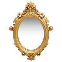 vidaXL aranyszínű kastély stílusú fali tükör 56 x 76 cm