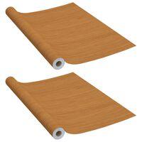 vidaXL világos tölgyszínű öntapadó PVC bútorfólia 500 x 90 cm
