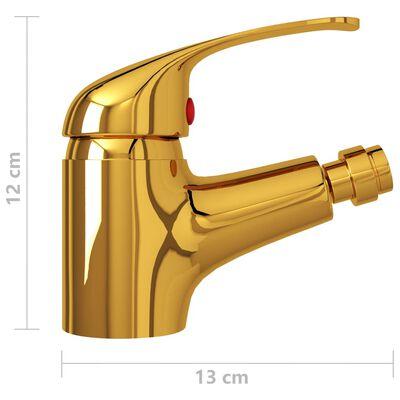 vidaXL aranyszínű fürdőszoba bidé csaptelep 13 x 12 cm
