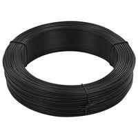 vidaXL antracitszürke acél kerítésösszekötő drót 250 m 2,3/3,8 mm