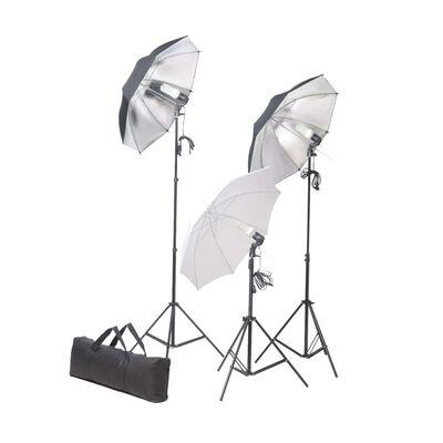 vidaXL stúdióvilágítás szett állvánnyal és ernyővel 24 watt