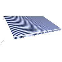 vidaXL kék és fehér automata napellenző 500 x 300 cm