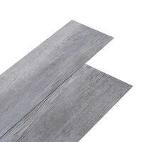 vidaXL matt fa-szürke 2 mm-es öntapadó PVC padlóburkolat 5,02 m²