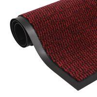 vidaXL négyszögletes szennyfogó szőnyeg 90 x 150 cm piros
