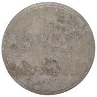 vidaXL szürke márvány asztallap Ø40 x 2,5 cm