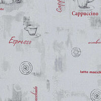 vidaXL 2 db fehér kávé mintás nem szőtt tapétatekercs 0,53 x 10 m