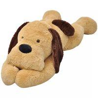 vidaXL ölelni való barna plüss kutya 120 cm