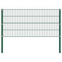 vidaXL zöld vas kerítéspanel oszlopokkal 1,7 x 0,8 m