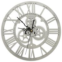 vidaXL ezüstszínű akril falióra 30 cm
