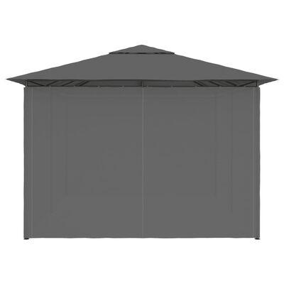 vidaXL antracitszürke kerti pavilon függönyökkel 4 x 3 m