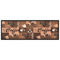 "vidaXL ""Coffee brown"" mintájú mosható konyhaszőnyeg 60 x 180 cm"