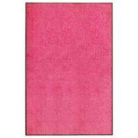 vidaXL rózsaszín kimosható lábtörlő 120 x 180 cm