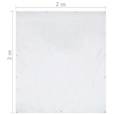 vidaXL fehér PVC rendezvénysátor-oldalfal 2 x 2 m 550 g/m²