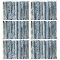 vidaXL 6 darab farmerkék pamut rongyalátét 30 x 45 cm