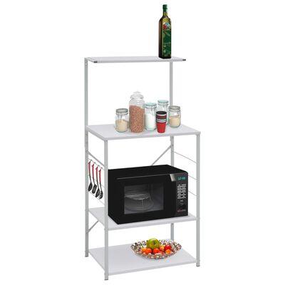 vidaXL fehér forgácslap mikrosütő szekrény 60 x 39,6 x 123 cm