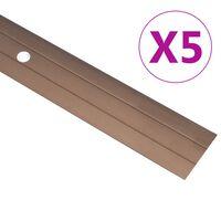 vidaXL 5 db barna alumínium padlóprofil 100 cm
