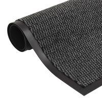 vidaXL négyszögletes szennyfogó szőnyeg 80 x 120 cm antracitszürke