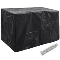 vidaXL kerti bútor védőhuzat 8 fűzőlyukkal 140 x 70 x 90 cm