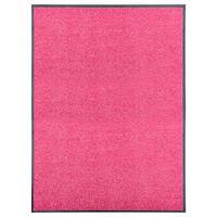 vidaXL rózsaszín kimosható lábtörlő 90 x 120 cm
