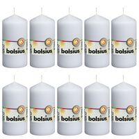 Bolsius 10 db fehér oszlopgyertya 120 x 58 mm