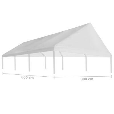 vidaXL fehér rendezvénysátor tető 3 x 6 m
