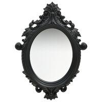 vidaXL fekete kastély stílusú fali tükör 56 x 76 cm