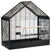 Beeztees Yara fekete fém madárkalitka 71 x 35 x 70 cm
