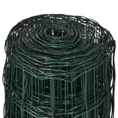 vidaXL Euro Fence zöld acélkerítés 10 x 1,7 m