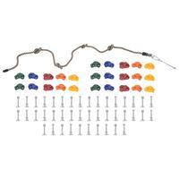 vidaXL 25 db többszínű mászókő kötéllel