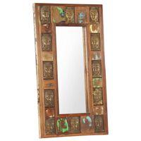 vidaXL tömör újrahasznosított fa tükör Buddha burkolattal 50 x 80 cm