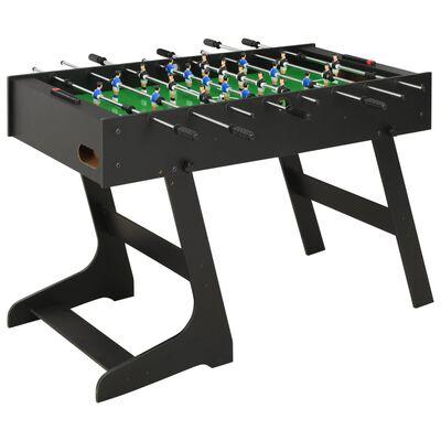 vidaXL fekete összecsukható csocsóasztal 121 x 61 x 80 cm