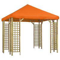 vidaXL narancssárga pavilon 3 x 3 m