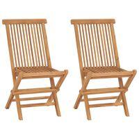 vidaXL 2 db összecsukható tömör tíkfa kerti szék