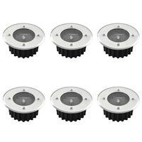 6 Kerek Napelemes Talaj Lámpa / kültéri lámpa
