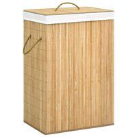 vidaXL bambusz szennyestartó kosár 72 L