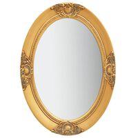vidaXL aranyszínű barokk stílusú fali tükör 50 x 70 cm