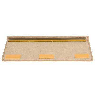 vidaXL 15 db aranyszínű lépcsőszőnyeg 65 x 25 cm