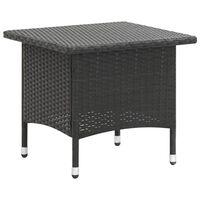 vidaXL fekete polyrattan teázóasztal 50 x 50 x 47 cm