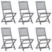 vidaXL 6 db összecsukható tömör akácfa kültéri szék