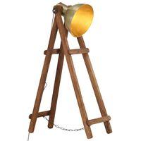 vidaXL sárgaréz tömör mangófa állólámpa E27