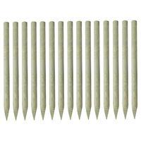 vidaXL 15 db hegyes impregnált fenyőfa kerítésoszlop 4 x 150 cm