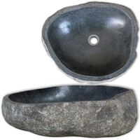 vidaXL ovális folyami kő mosdókagyló 46-52 cm