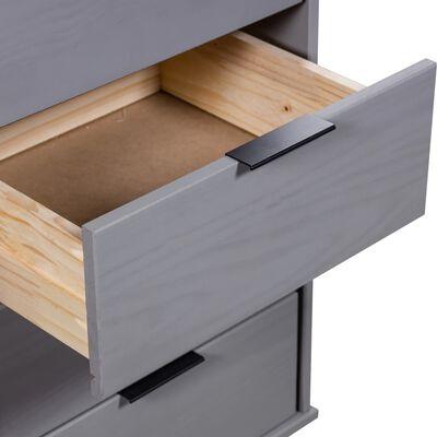 vidaXL szürke tömör fenyő fiókos szekrény 45 x 39,5 x 90,3 cm