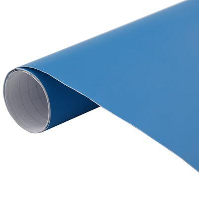 vidaXL matt kék autófólia 500 x 152 cm
