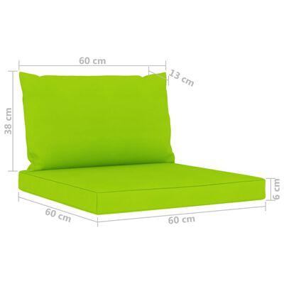 vidaXL 5 részes kerti ülőgarnitúra élénkzöld párnákkal